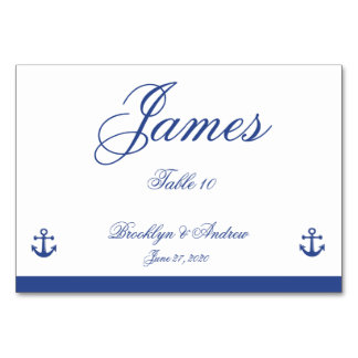 Nautical Wedding Place Cards Table Card