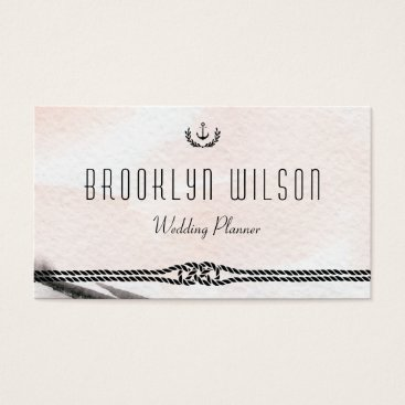 Professional Business Nautical Wedding Planner Business Cards Watercolor