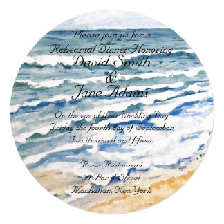 Nautical wedding rehearsal dinner card