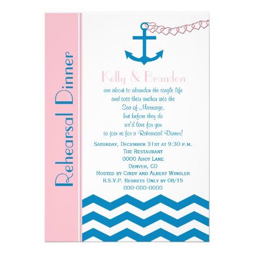 Nautical Wedding Rehearsal Dinner Invitation