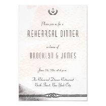 Nautical Wedding Rehearsal Invite Watercolor Peach
