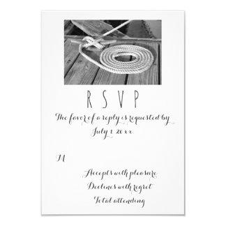Nautical Wedding RSVP Card