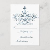 Nautical wedding RSVP cards