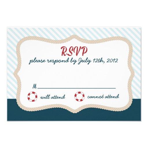 Nautical wedding RSVP Invite