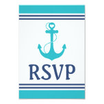 Nautical Wedding RSVP Personalized Invite