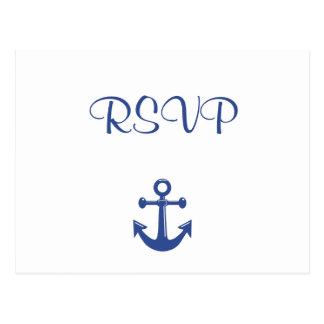 Nautical Wedding RSVP Postcard
