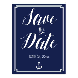 Nautical Wedding Save The Date Postcards Frame