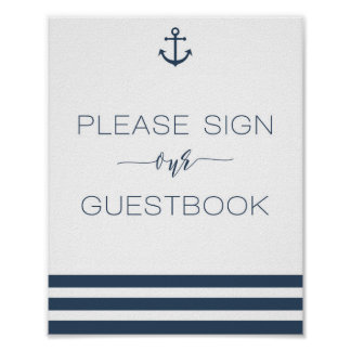 Nautical Wedding Sign Our Guest Book