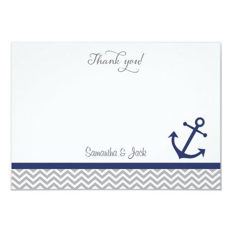 Nautical Wedding Thank You Card