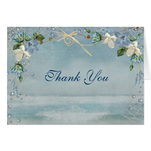 Nautical Wedding Thank You Stationery Note Card