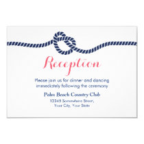 Nautical Wedding Tying the Knot Reception Invitation
