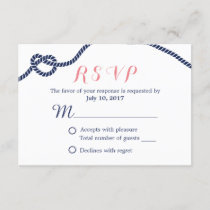 Nautical Wedding Tying the Knot RSVP