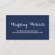 Nautical | Wedding Website Card
