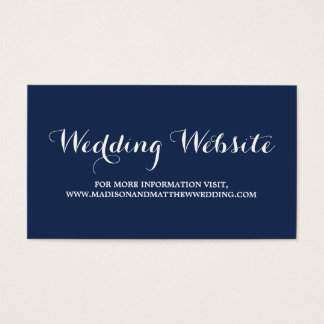 Nautical | Wedding Website Card
