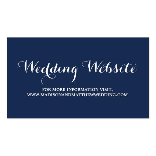 Nautical | Wedding Website Card Business Cards
