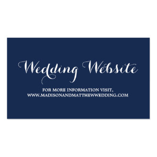 Nautical | Wedding Website Card Double-Sided Standard Business Cards (Pack Of 100)