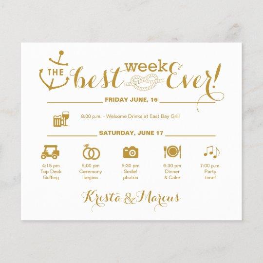 Nautical Wedding Week Itinerary
