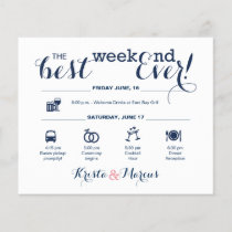 Nautical Wedding Weekend Itinerary