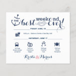 """Nautical Wedding Weekend Itinerary 2<br><div class=""""desc"""">Wedding Program Flyer featuring Nautical &quot;Infographic&quot; style timeline. Contact Seller before personalization for timeline icon adjustments or additions.</div>"""