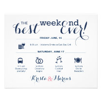Nautical Wedding Weekend Itinerary Flyer