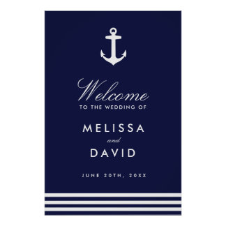 Nautical Welcome Sign (24x36)