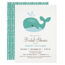 Nautical Whale Bridal Shower Invitation