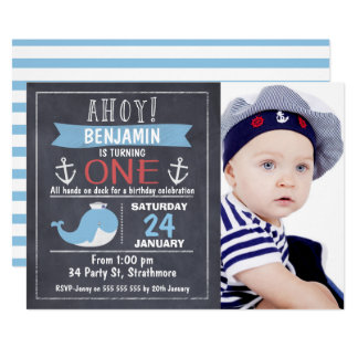 St Birthday Invitations Zazzle - Birthday invitations for baby boy 1st