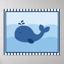 Nautical Whale Nursery Wall Print