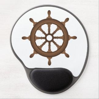 Nautical Wheel Design Gel Mouse Pad