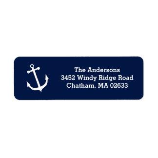 Nautical White Anchor Beach House Simple Classic Label