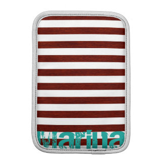 nautical white and wooden stripes with grunge name sleeve for iPad mini