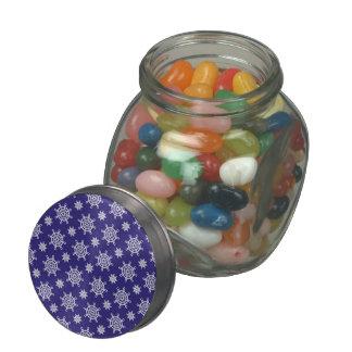 Nautical White Boat Wheels Glass Candy Jar
