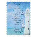 Nautical White Lighthouse wedding Card