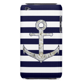 Nautical white rose anchor barely there iPod cover