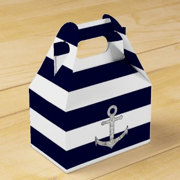 Beach Themed Nautical white rose anchor favor box