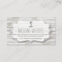 Nautical Whitewashed Wood Beach Wedding Collection Enclosure Card