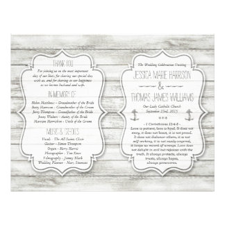 Nautical Whitewashed Wood Beach Wedding Collection Flyer