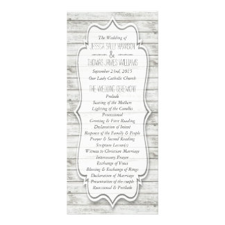 Nautical Whitewashed Wood Beach Wedding Collection Rack Card