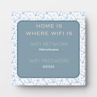 Nautical Wifi Guest Plaque