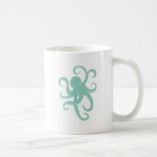 Nautical Wild Animal Octopus Coastal Illustration Coffee Mug