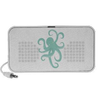 Nautical Wild Animal Octopus Coastal Illustration Notebook Speaker