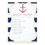 "Nautical Wishes For Baby Card 5"" X 7"" Invitation Card"