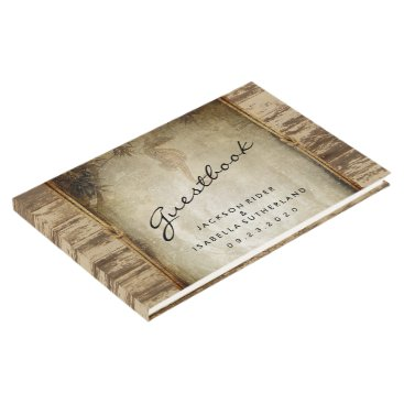 Beach Themed Nautical Wood Design Guestbook