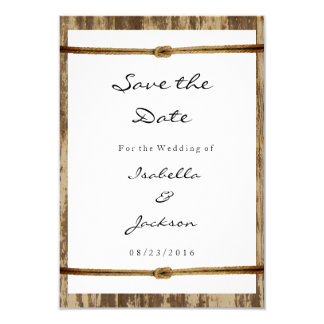 Nautical Wood Wedding Style Card