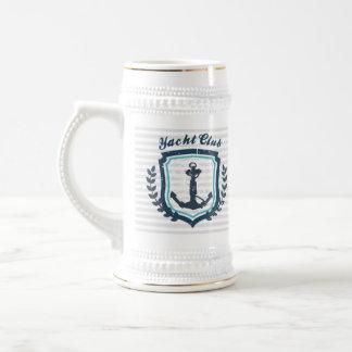 Nautical Yacht Club Sailor Beer Steins 18 Oz Beer Stein