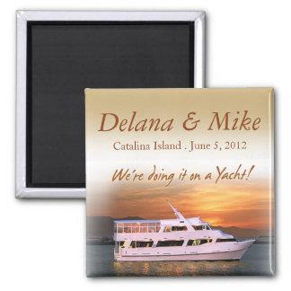 Nautical Yacht Destination Wedding Favor Keepsake Magnet