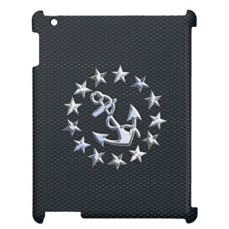 Nautical Yacht Flag Chrome Ensign on Grille Print iPad Cover