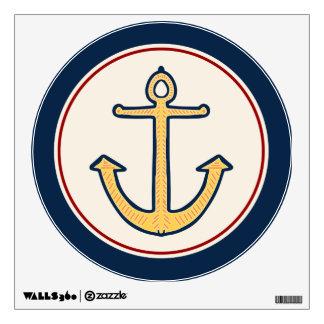 Nautical Yellow Anchor Wall Skin