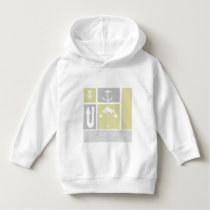 Nautical Yellow and Gray Anchor Fish Weather Vane Hoodie