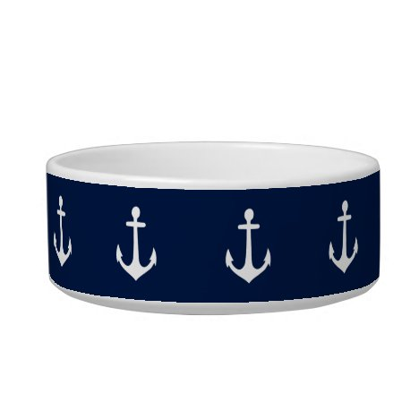 Nautical (You Choose Background Color) Bowl